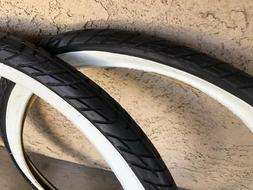 SALE! 2x DURO White Wall Tires 26x2.125 SLICK Style Beach Cr