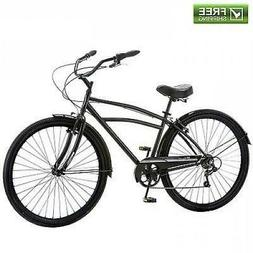 "Schwinn Cruiser Bike 29"" Black Comfort Men's Bicycle City Be"
