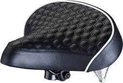 Schwinn Quilted Wide Cruiser Saddle Bicycle Bike Extra Soft