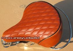 Velo SD Saddle - Brown, Classic Style Seat with chrome rail