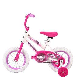 12 Inch Huffy Sea Star Kids Bike for Girls, Pink with Traini