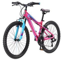"""Mongoose Girls Silva Mountain Bicycle Pink 24"""" Wheel 13""""/Sma"""