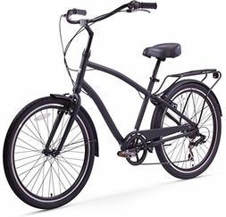 """sixthreezero EVRYjourney Men's Hybrid Cruiser Bicycle, 26"""" W"""