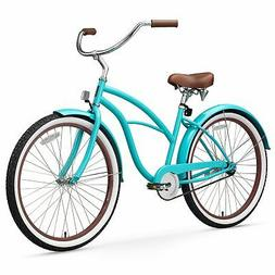 "26"" sixthreezero Teal Single Speed Beach Cruiser Women's Bic"