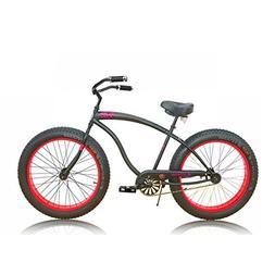 "Micargi Slugo-B 26"" Fat Tire Cruiser Bike Bicycle MOON TYPE"