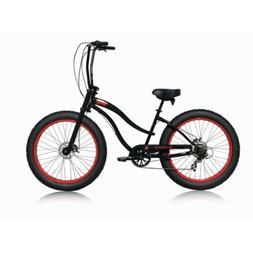 "Micargi Women Slugo-SS 26"" Fat Tire 7Speed Cruiser Bicycle H"