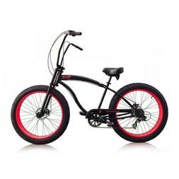"Micargi Slugo-SS 26"" Fat Tire 7 Speed Cruiser Bicycle w/ Hi"