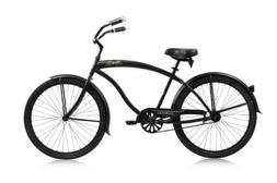 "Micargi STEALTH-M-MBK 26"" Beach Cruiser Bike Bicycle, Matte"