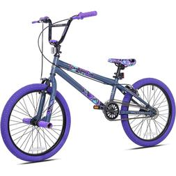 Steel Frame BMX Bicycle Girls 20 in Wheel Rims Purple Freest