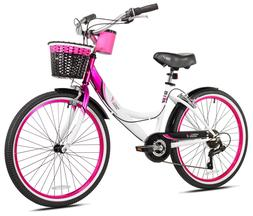 "24"" Susan G. Komen Cruiser Multi-Speed Girl's Bike New"