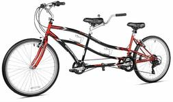 "Tandem Bike Bicycle Beach Cruiser 26"" 21 Speed Two Person St"