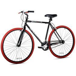 Kent Thruster 700C Men's Fixie Bike, Black/Red