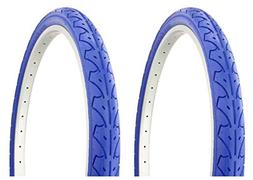 """Lowrider Tire Set. 2 Tires. Two Tires Duro 26"""" x 1.95"""" Blue/"""