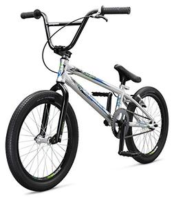 Mongoose Title Pro XXL BMX Race Bike, 20-Inch Wheels, Silver
