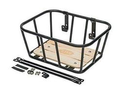 Bell Tote 900 Front Handlebar Metal Basket with Wood Base -