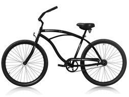 "Micargi Touch, Black - Men's & Ladies 26"" Beach Cruiser Bike"