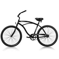 "Micargi TOUCH-M-MBK Men's 26"" Beach Cruiser Bicycle Bike, Ma"