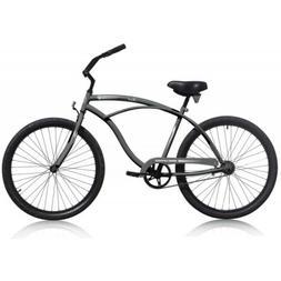 """Micargi TOUCH-M-MDGRAY Men's 26"""" Beach Cruiser Bicycle Bike,"""