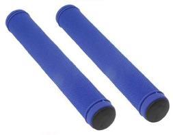 Track Bike Grips Velo 175mm Kraton Rubber Blue. Bike grips,