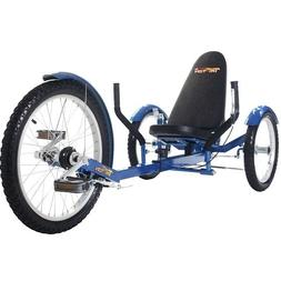 Mobo Triton Pro Recumbent Trike. Adult Beach Cruiser Tricycl
