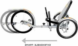 Mobo Triton Pro Recumbent Tricycle for Men & Women. 3-Wheele