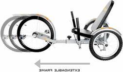 Mobo Triton Pro Recumbent Tricycle for Men & Women. 3-Wheele