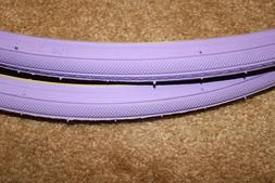 "TWO Duro  Road Bike Commuter Tire // 27""  X 1""  // Purple Hy"