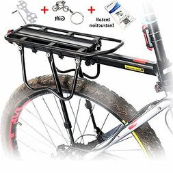 Universal Carrier Bicycle Rear Rack 110 lb Capacity Pannier