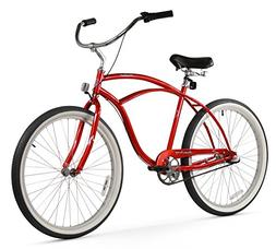 Firmstrong Urban Man 3 Speed, Red - Men's 26 Beach Cruiser B