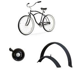 "Firmstrong Urban Man 26"" 1-Speed Beach Cruiser Bicycle, plus"
