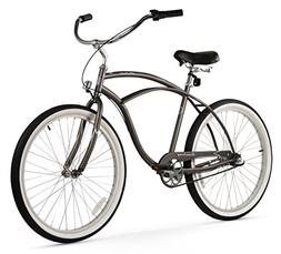 Men's Urban Man 3 Speed Beach Cruiser Bike, Matte Grey