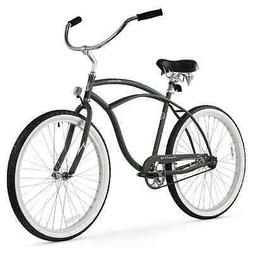 Men's Urban Man Classic Beach Cruiser Bike, Army Green