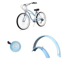 "Firmstrong Urban Lady 26"" 3-Speed Beach Cruiser Bicycle, plu"