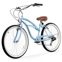 "Firmstrong Urban Lady 7-Speed 26"" Beach Cruiser Bicycle, Bab"