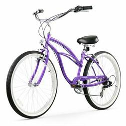 Firmstrong Urban Lady Seven Speed Beach Cruiser Bicycle, 26-