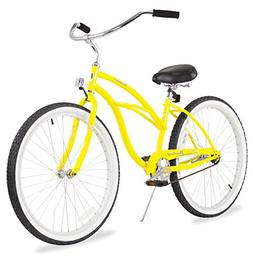 "Firmstrong Urban Lady Single Speed,  Yellow - Women's 26"" Be"