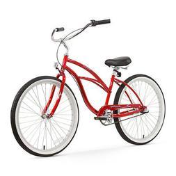 Firmstrong Urban Lady Three Speed Beach Cruiser Bicycle, 26-