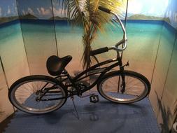 urban man single speed beach cruiser bicycle