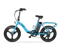 VeeGo Semi Fat Tire Electric Beach Cruiser, Folding Bicycle