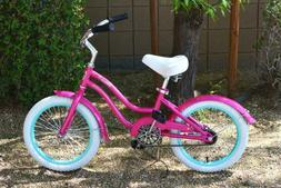 "Colby Cruisers Venus 16"" Girls Beach Cruiser Pink"