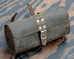 Vintage Brown Leather Bike TOOL BAG B Fixie Schwinn Cruiser