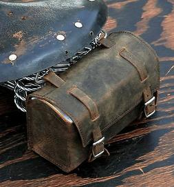 Vintage Brown Leather Bike TOOL BOX BAG Schwinn Cruiser Bicy