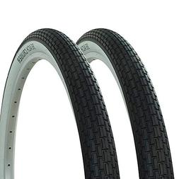 Fenix Cycles 1 Pair of Wanda Brick Tread Tire White Wall 26