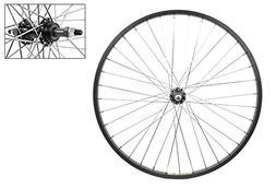 Wheel Rear 26 x 1.75 Black Alloy Cruiser, 3/8 Alloy FW 5-7sp