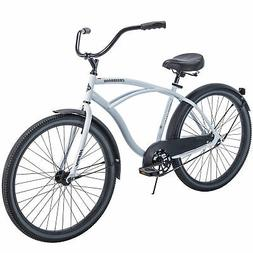 "White Cruiser Bike 26"" Men Huffy Traditional Comfort Commute"