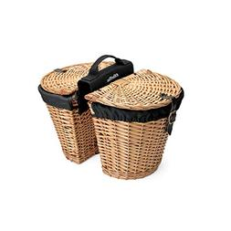 Electra Wicker Saddle Bicycle Baskets for Rear Rack Mount