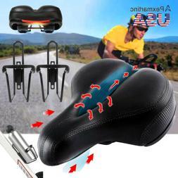 Wide Bum Soft Gel Cruiser Bike Saddle Seat Bicycle Water Bot