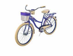 Huffy Cruiser Bike Women's 24 inch Deluxe, Blue Violet NEW