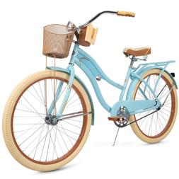 "Womens Cruiser Bike 26"" Ladies Vintage Beach Bicycle with Fr"