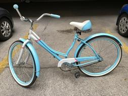 "Schwinn Women's Legacy 26"" Cruiser Bike - Blue/White EUC"
